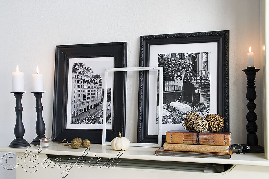 Fall Mantel with Masculine Touches Decorating