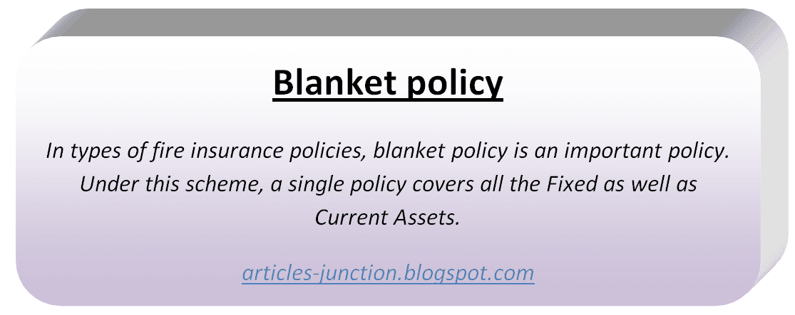 Blanket policy