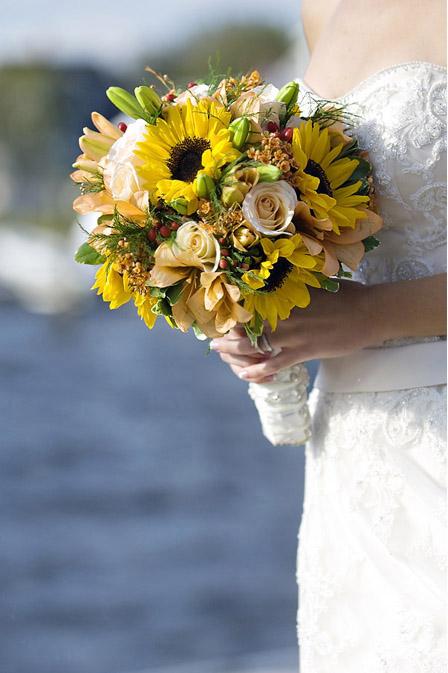 Matrimonio Country Girasole : Il bouquet classico ma non solo