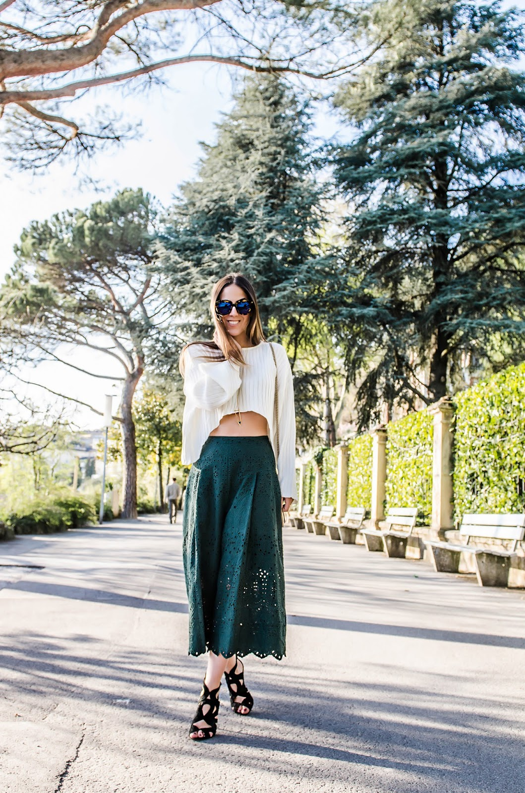 alison liaudat, blog from switzerland, blog mode suisse, swiss fashion blog, stylemoi, H&M, culotte short, Karen Walker, Zara black sandals, outfit of the day, fashion blogger,