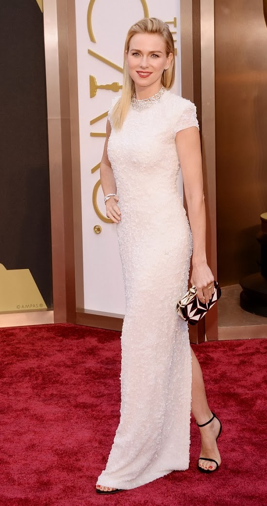 Naomi Watts in Calvin Klein Collection gown at 2014 Oscars
