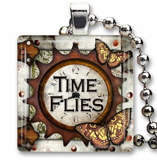 Time Flies Pendant Necklace