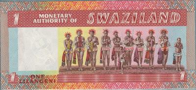 Swaziland 1 Lilangeni 1974 P# 1