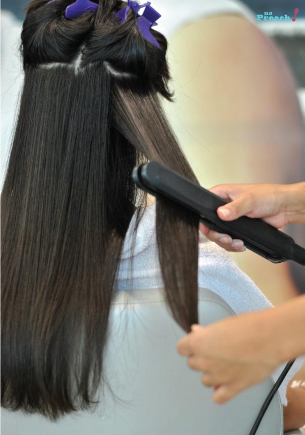 chapinha - prancha - cabelo - Cauterização Capilar Lanza Ultimate - Salão Platinum Visage