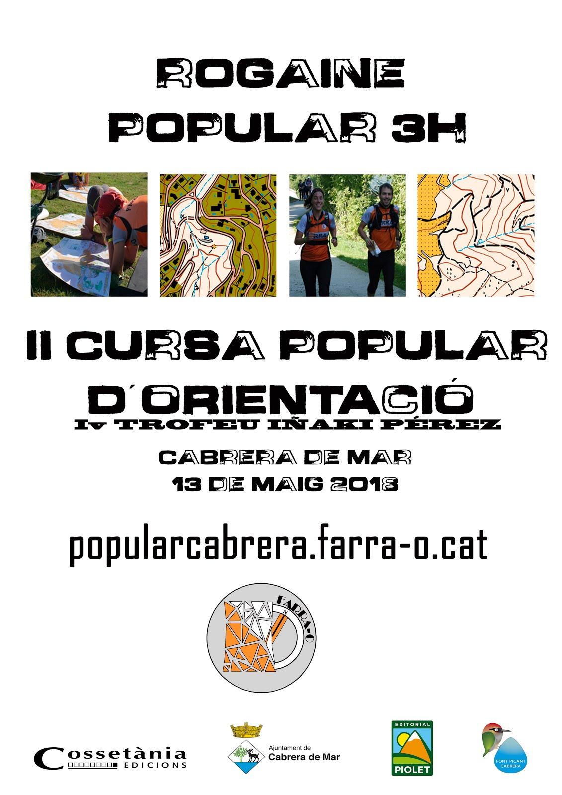 13 MAIG - II ROGAINE POPULAR CABRERA - IV TROFEU IÑAKI PÉREZ