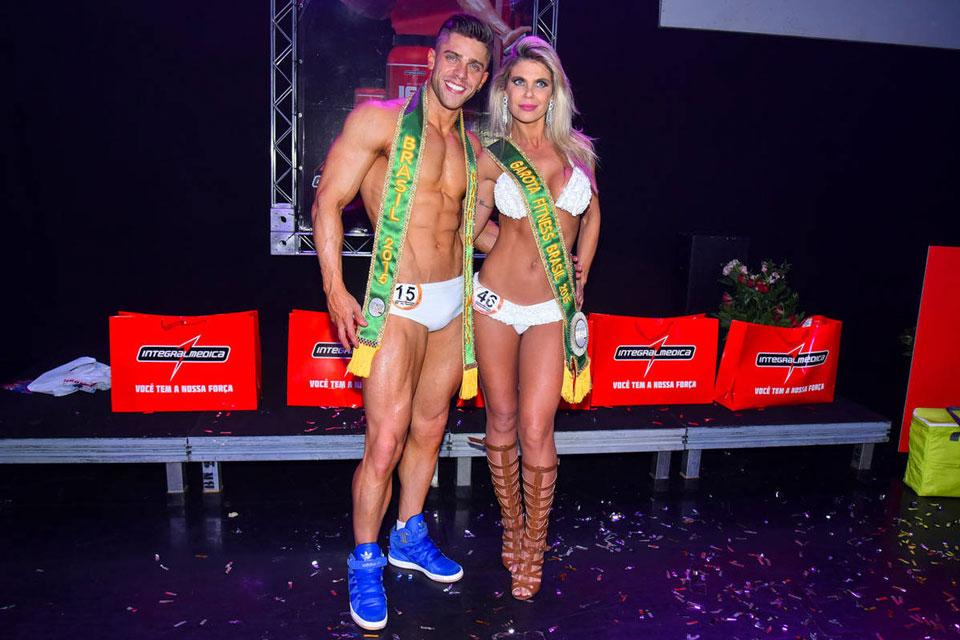 Renan Marinho e Tereza Pereira, o Garoto e a Garota Fitness Brasil 2015. Foto: Foto: Caio Duran/Thomaz Assessoria