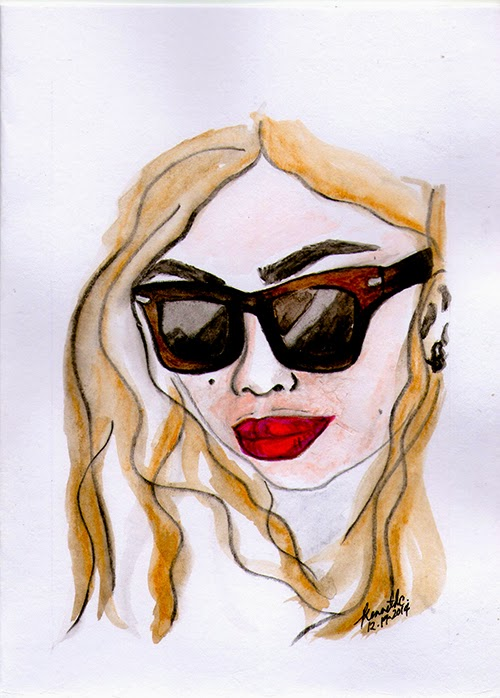 woman fat chubby curvy wearing sunglasses rayban Topshop