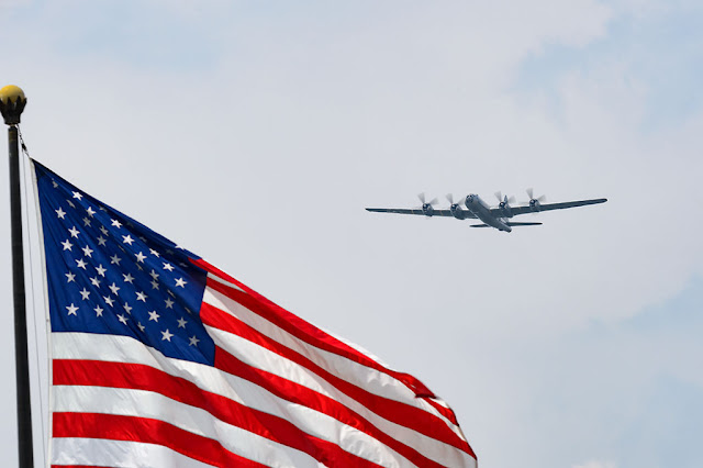 "Boeing B-29 Superfortress, ""Fifi"" flies over Washington, DC"