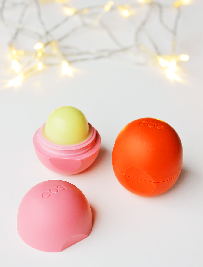 EOS Lip Balms: Summer Fruit + Strawberry Sorbet