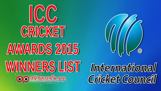 The International Cricket Council (ICC) Awards 2015 Winner List Steven Smith (Australia) AB de Villiers (South Africa) Brendon McCullum (New Zealand) Richard Kettleborough (England)