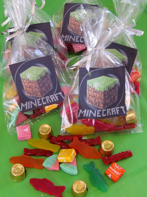 Minecraft Candy Bags