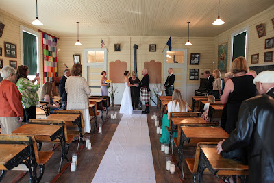 Historic Reno Wedding inside school house