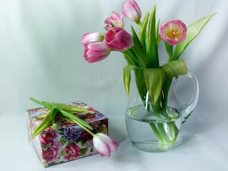 Tulipanes rosa para decorar