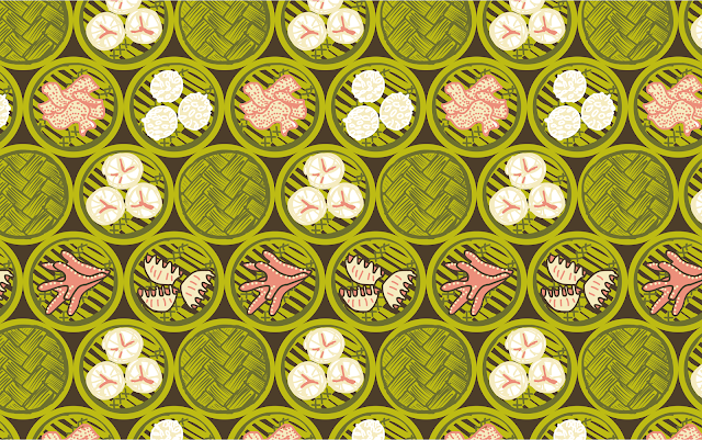 365patterns dim sum spoonflower pattern