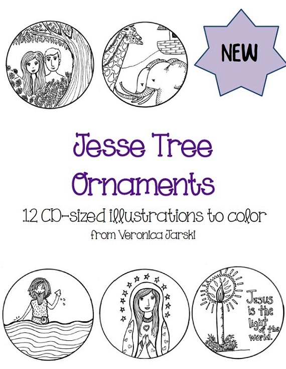 photograph regarding Jesse Tree Ornaments Printable identified as Paper Dali: Brand name-Clean Jesse Tree Ornaments for Arrival 2014