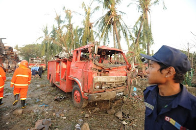 >108 injured in Rangoon fire