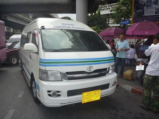 Van going to Koh Samet Island