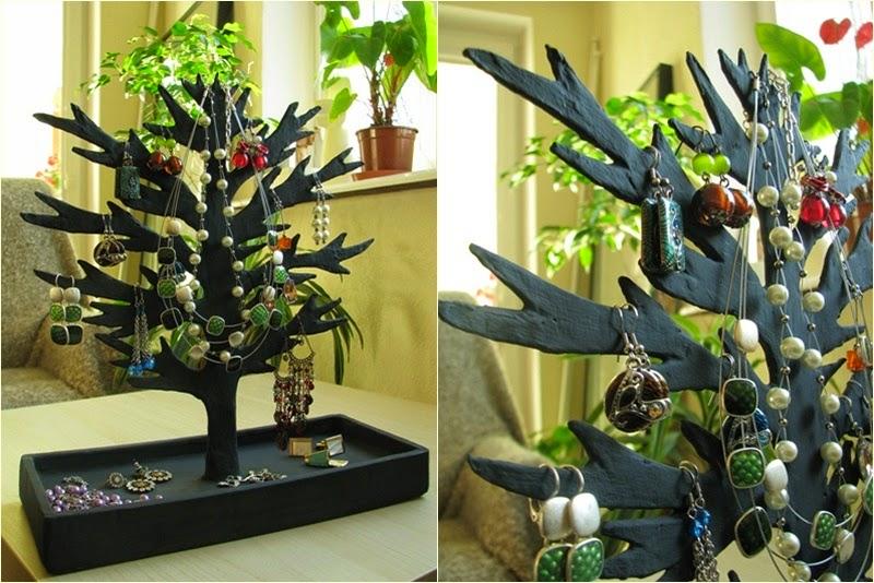 stojak DIY na kolczyki | organizacja kolczykow | drzewko na kolczyki