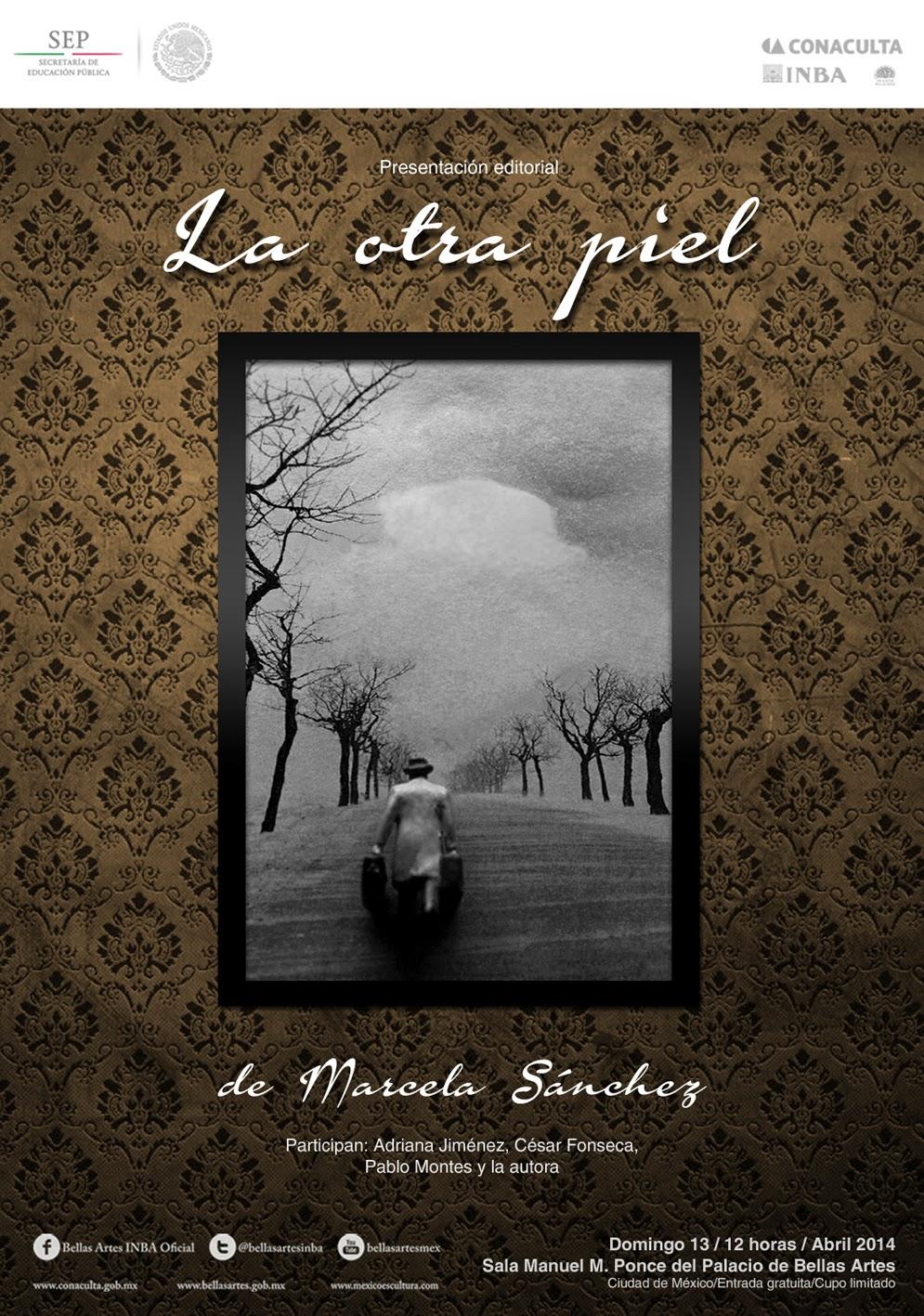 """Presentación de la novela """"La otra piel"""" en el Palacio de Bellas Artes"""