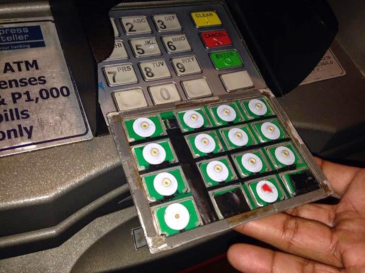 Fake ATM keypad