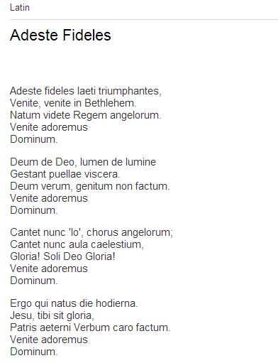 adeste fideles lyrics testo