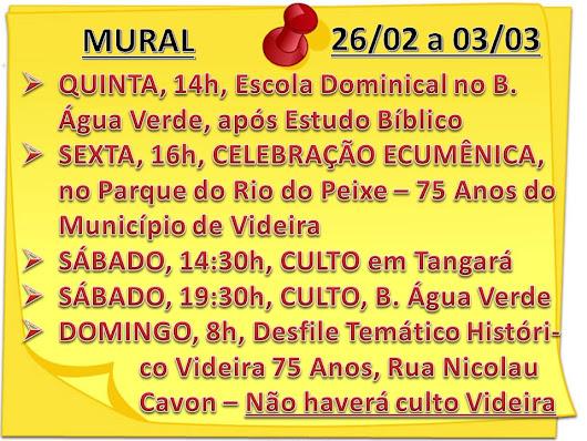 MURAL DA SEMANA - 26/02/2019