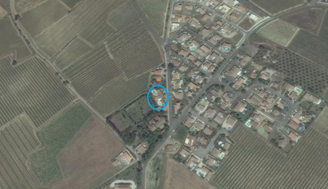 Pour situer les maisons, voici une capture écran google earth