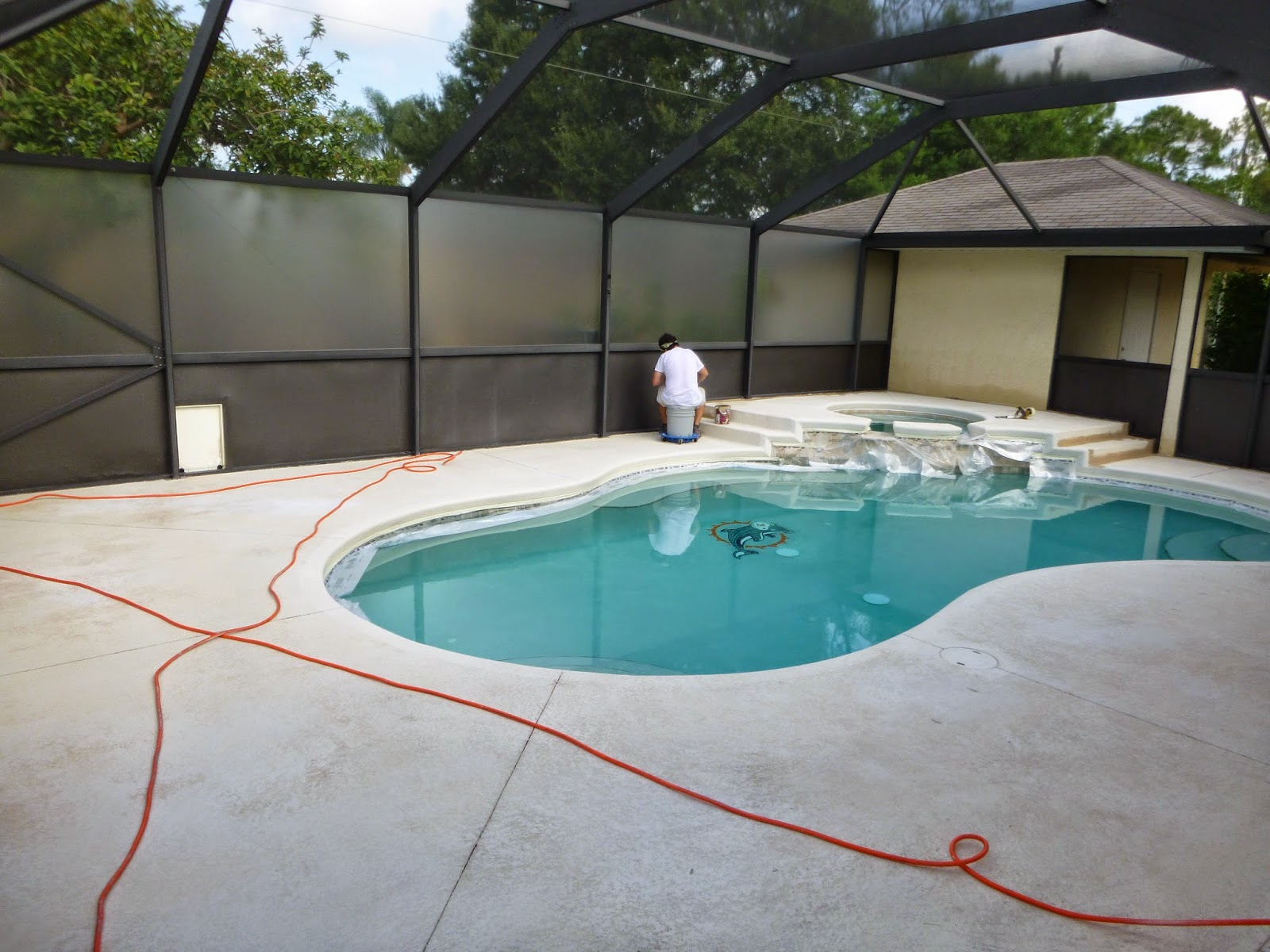 Patio Deck Concrete Staining Brilliant Painting Artists Corp  Painting Company Port St Lucie Fl 772