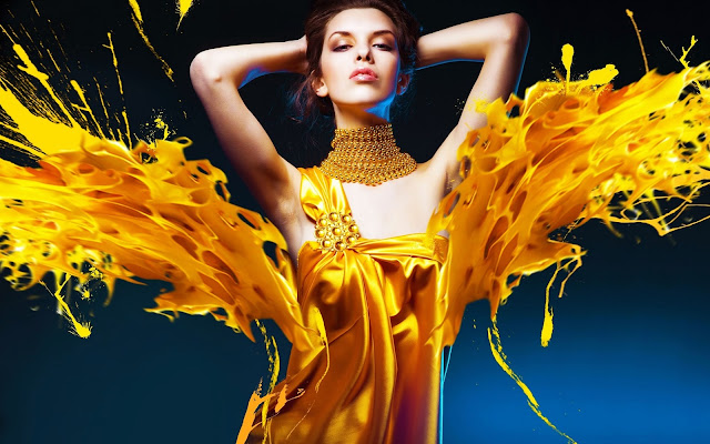 274899-Girl With Yellow Dress Fashion HD Wallpaperz
