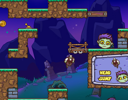 Jogos de zumbi: Headless Zombie, tirar cabeça.