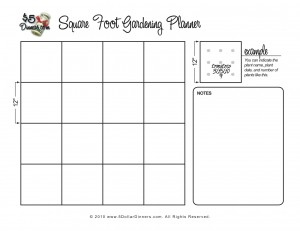 Eat live grow paleo square foot gardening planning for Four foot garden blueprint