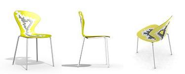 silla cocina amarilla