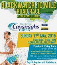 New 10 mile race nr Fermoy in Cork