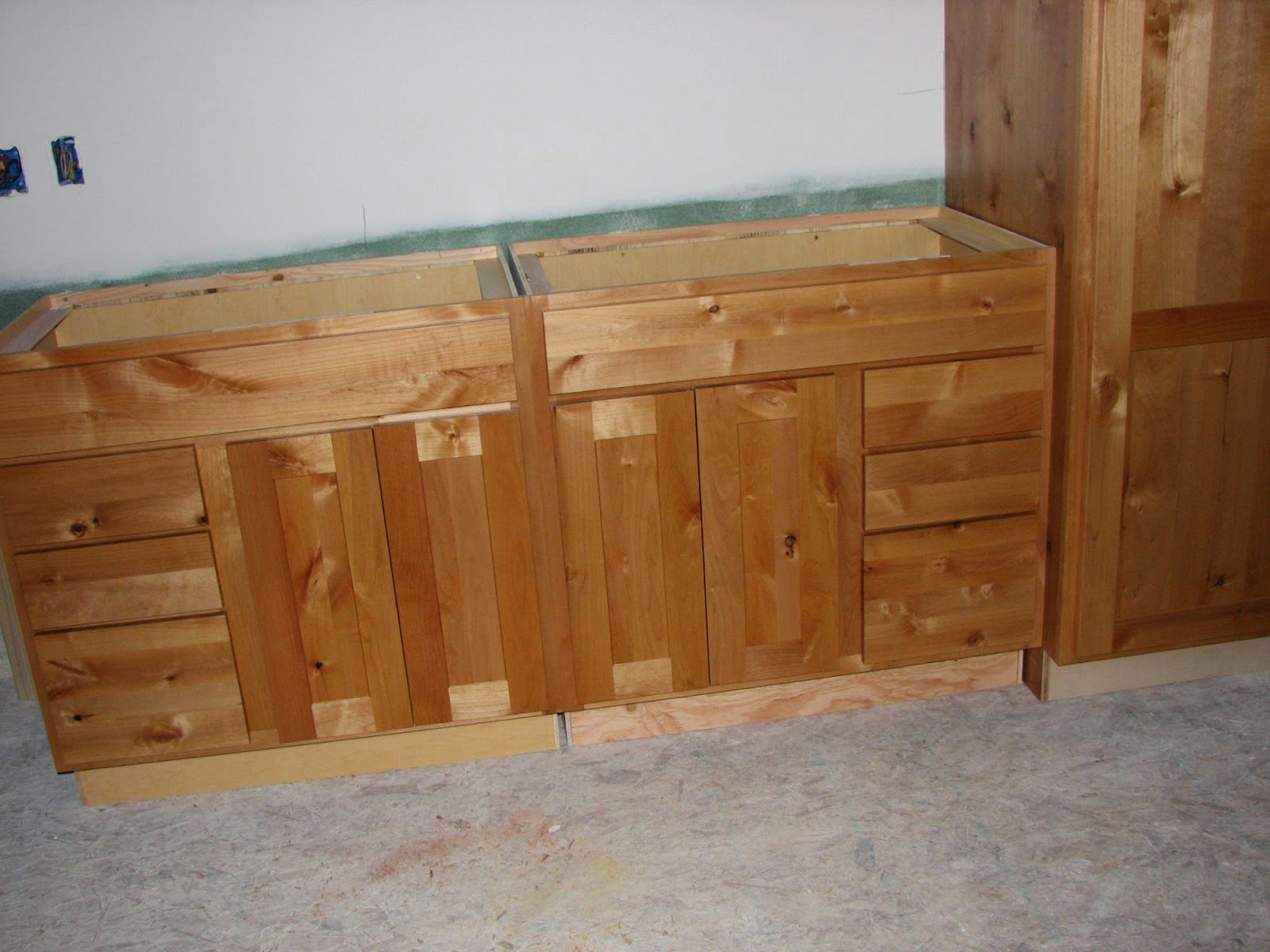 Knotty Alder Wood Cabinets