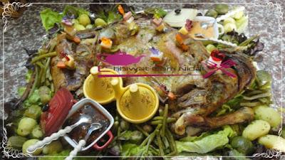 لحم الغنمي مشري و مقدم مع الخضر مبخرة 6.jpg