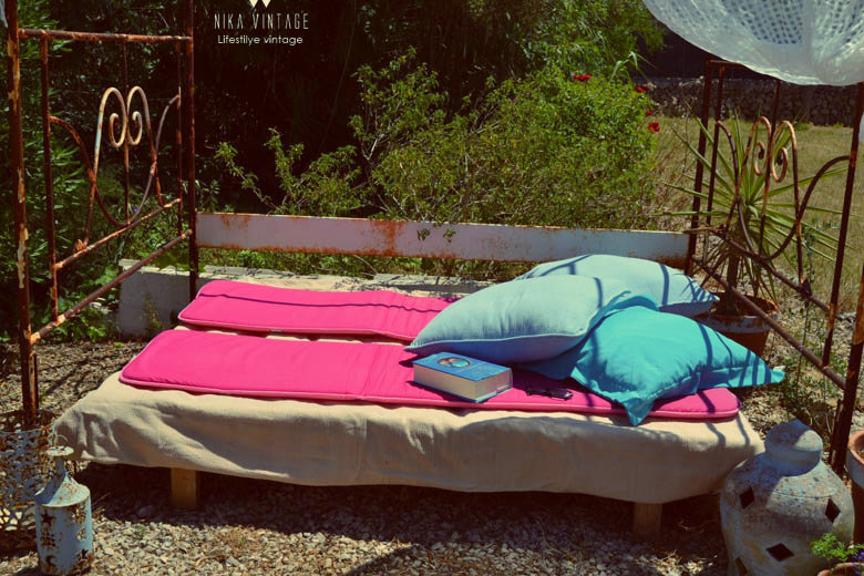 chill out, jardin, low cost, barato, solarium, telas, verano
