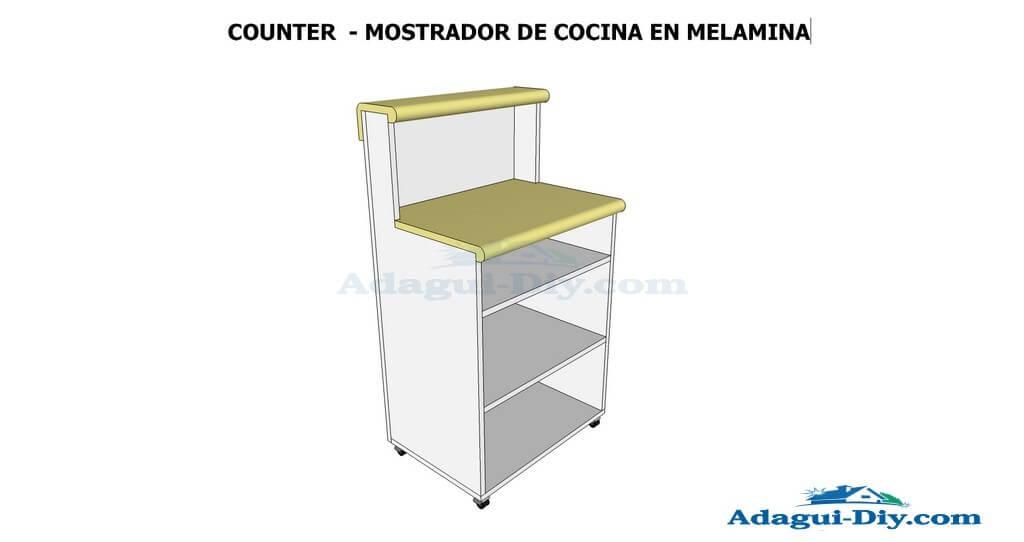 Planos de muebles como hacer muebles de cocina mueble for Mueble auxiliar microondas