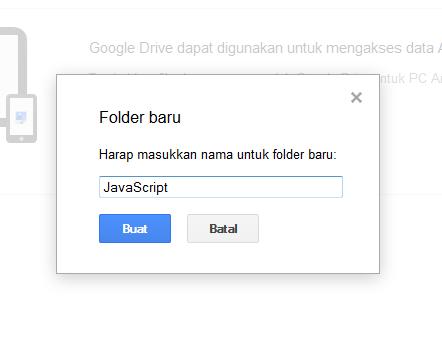 Masukkan Nama Folder yang diinginkan Google Drive