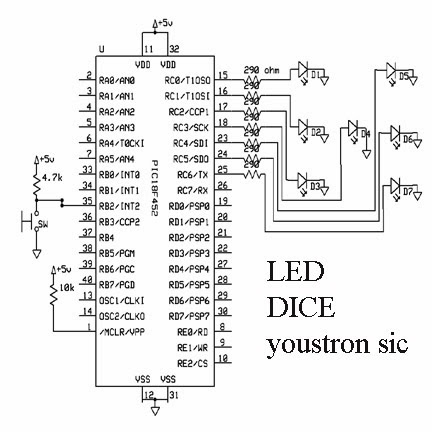 led dice circuit