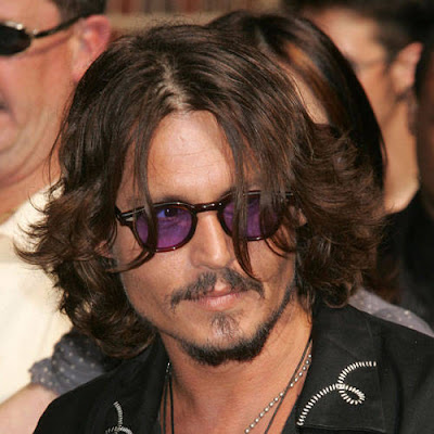JOHNNY DEPP HAIRSTYLES - LONG WAVY HAIRCUT