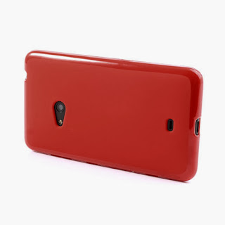 Frosted TPU Jelly Case For Nokia Lumia 625 - Red