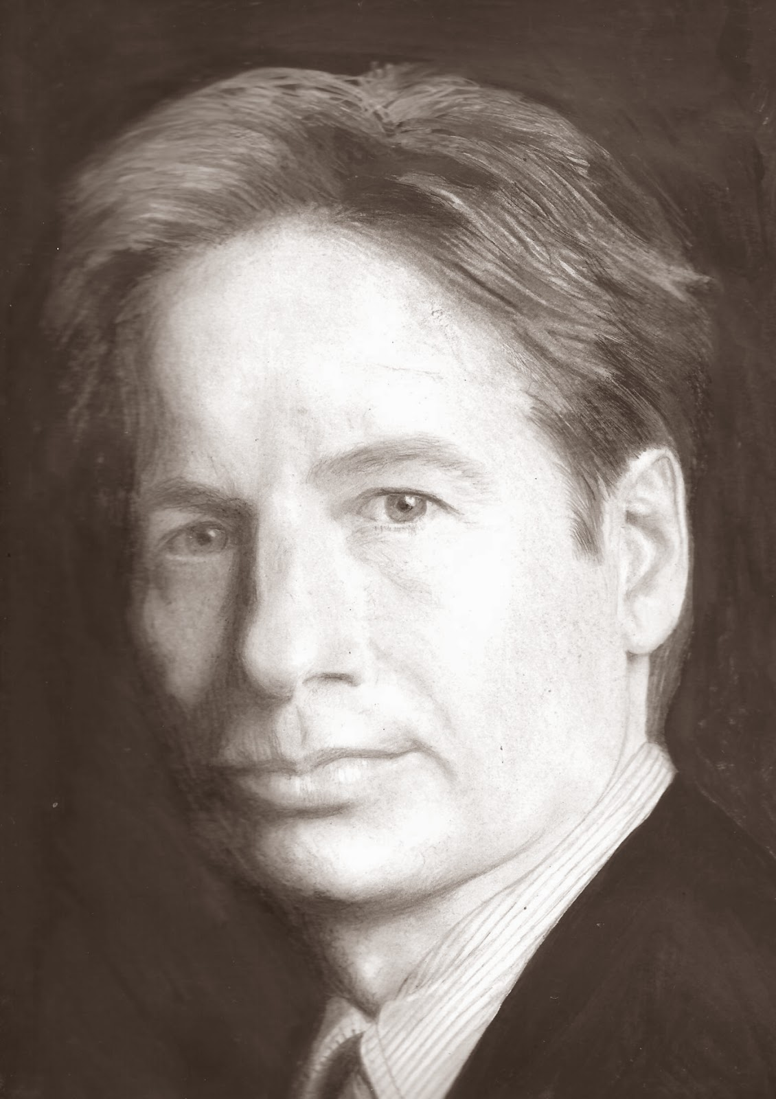 David-Duchovny-desenho-a-grafite-Fox-Mulder-portrait-graphite-pencil-drawing-