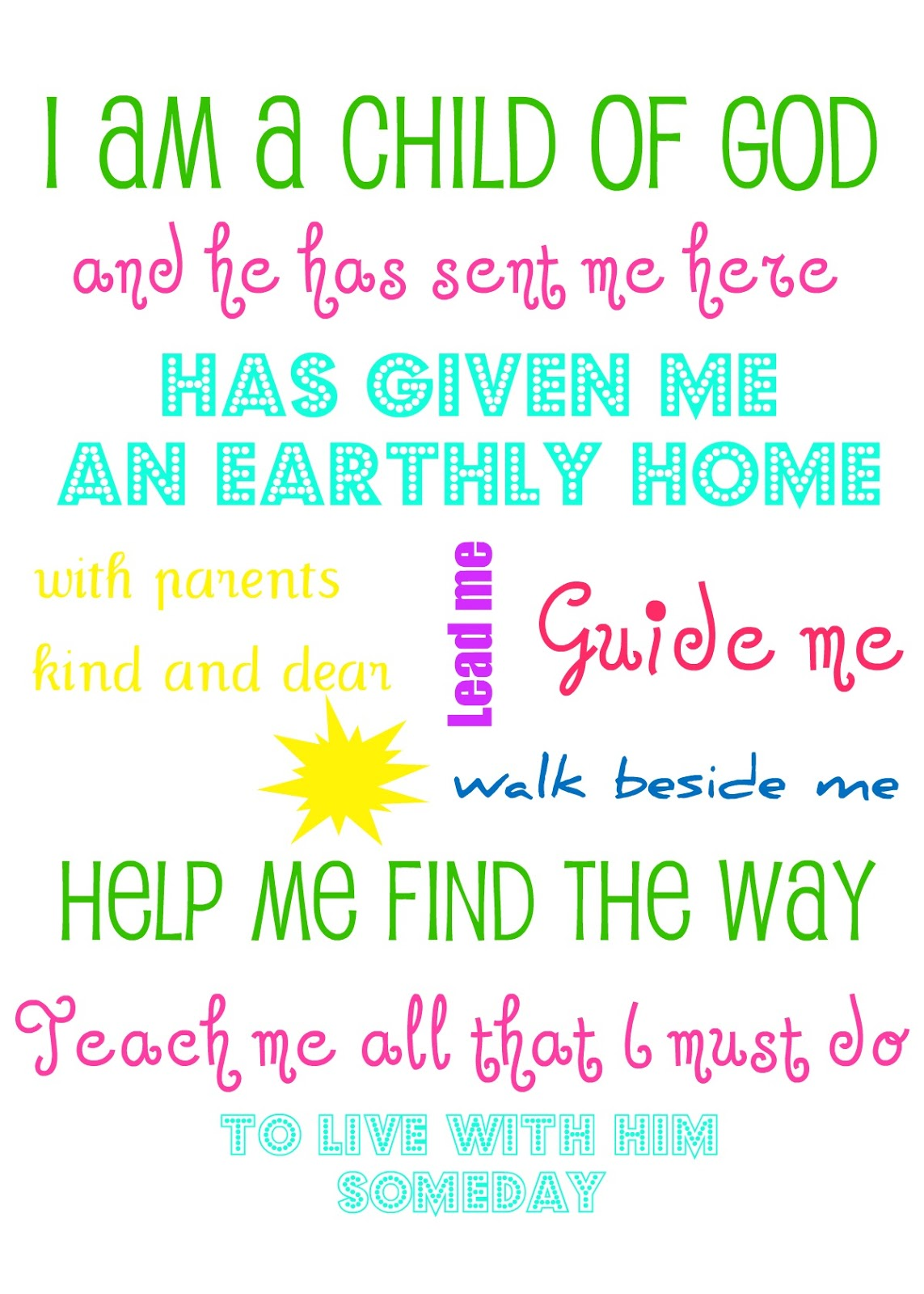 It's just a picture of Ambitious I Am a Child of God Printable