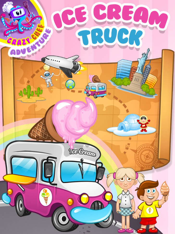 Ice Cream Truck: A Crazy Chef Adventure Free App Game By TabTale LTD