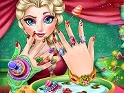 Frozen Elsa Christmas Manicure