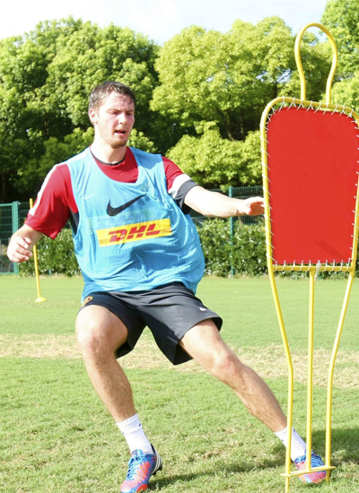 Nick Powell Training