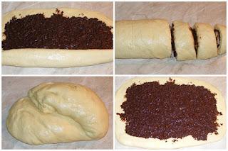 preparare copzonac pufos de casa umplut cu crema de cacao si nuci, retete culianre, cum facem cozonac umplut, cum se face cozonacul pufos de casa umplut cu cacao si nuca, reteta cozonac, retete cozonac,