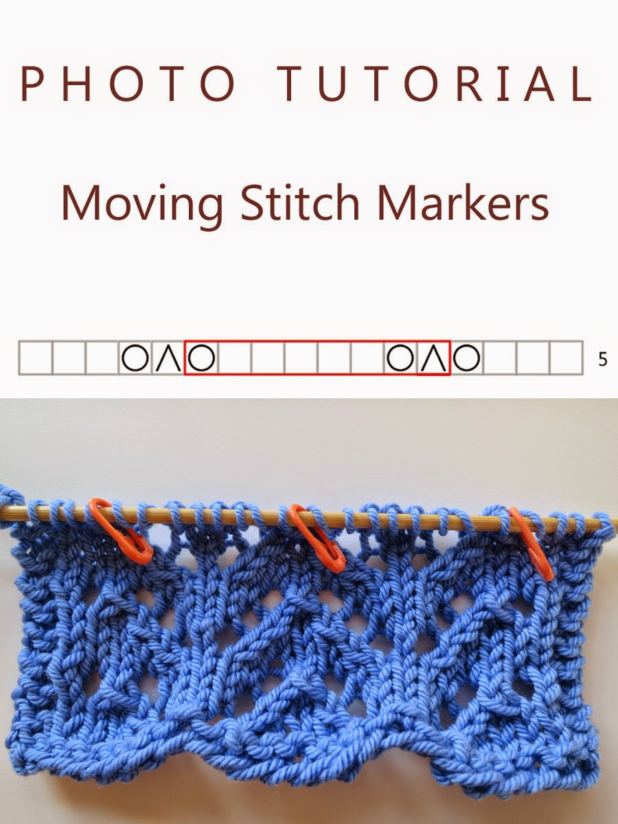 Knitting Like Crazy: Photo Tutorial: Moving Stitch Markers