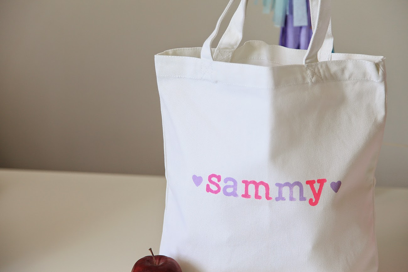 DIY Tote Bag Using Lawn Fawn Dies, with Video