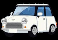 コンパクトカーのイラスト(白)